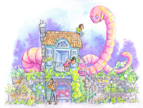 Giant earthworm friend