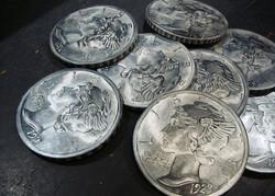 18 inch faux metal dimes