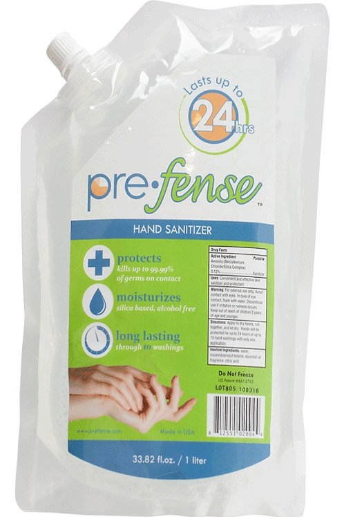 Prefense Hand Sanitizer Dispenser Refill, Pouch