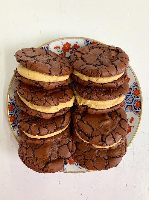 Dark Chocolate & Peanut Butter Brownie Cookie