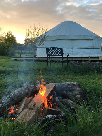 The Yurt and Fire Pit