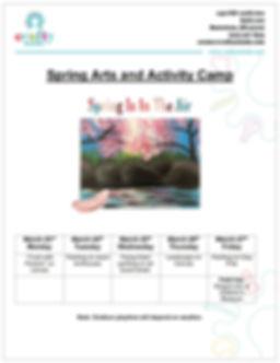 Spring Camp Schedule