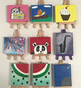 Paint Parties, Mini Canvas Collage