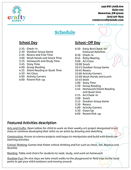 Child Care, After School Program