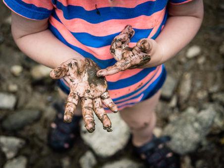 muddy hands in the wissachikon