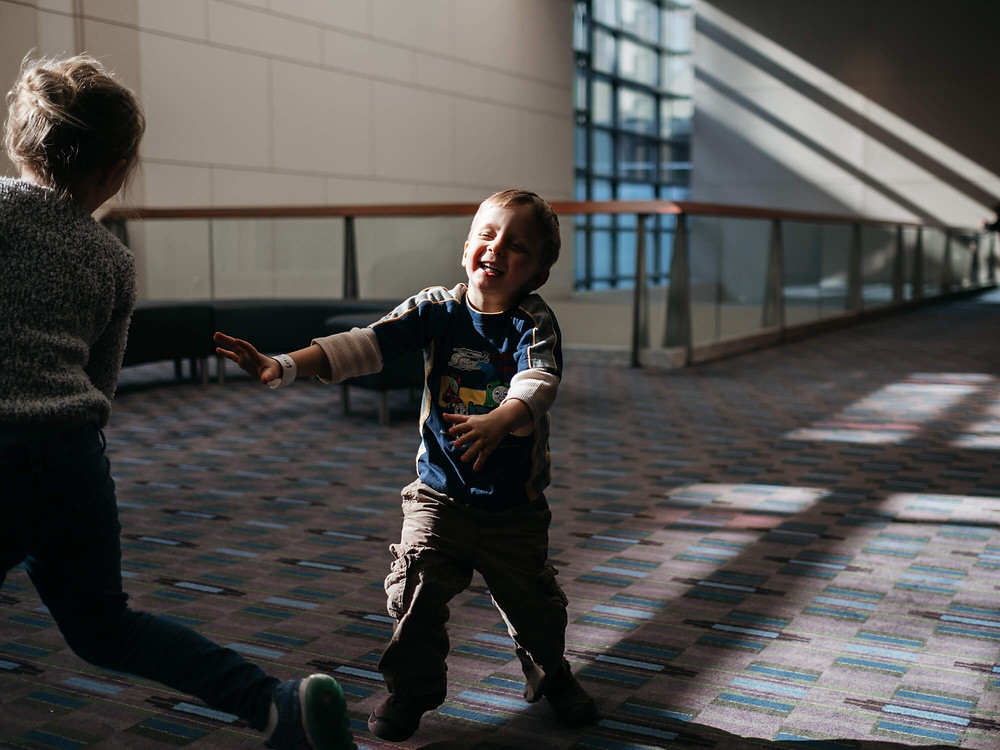 kids running at the philadelphia convention center