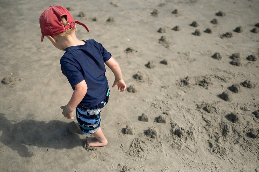 child playing on atlantic city beach