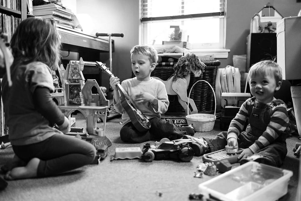 Documentary photography, children playing music, philadelphia