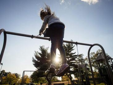 girl on swing in philadelphia