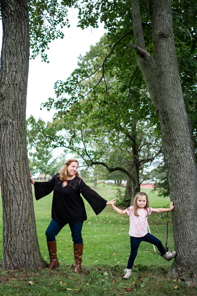 Mom and daughter at Rose Tree Park