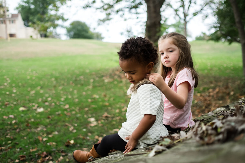 Siblinghood love at Rose Tree Park