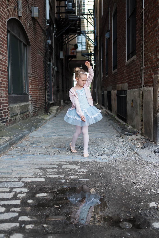 ballerina in a philadelphia alley