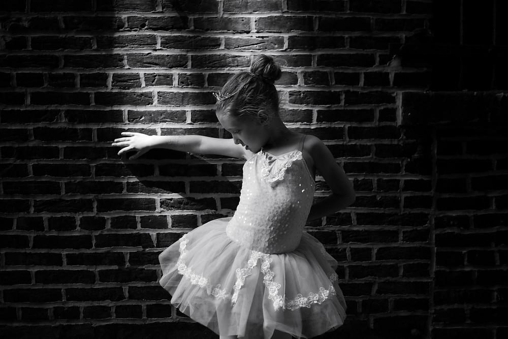 ballerina moody low key portrait