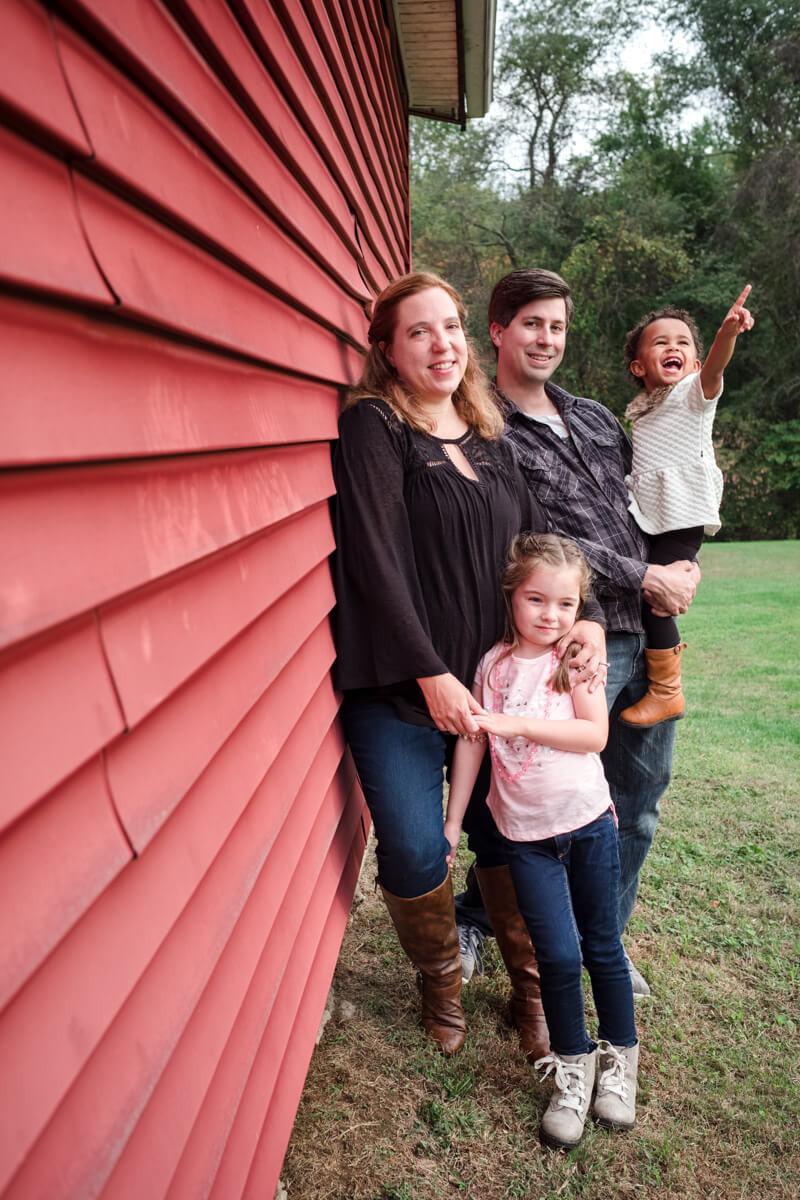 Family at Rose Tree Park