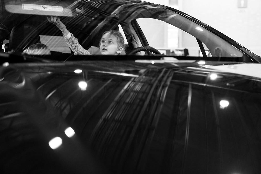 girl at the philadelphia auto show
