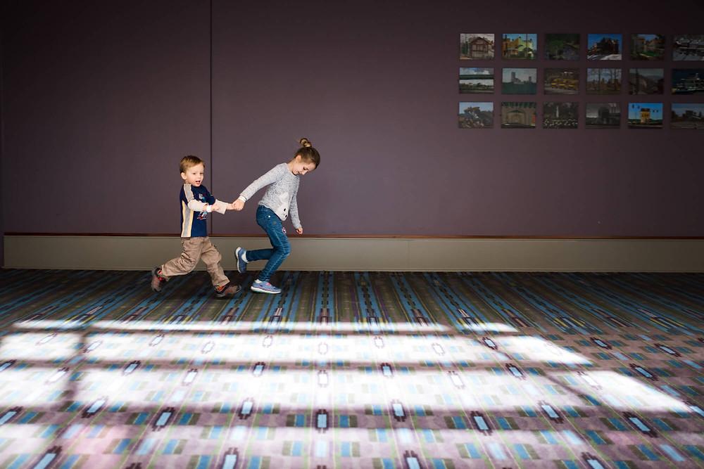 kids running at the philadelphia convention center
