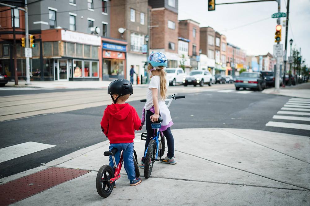 children on their bikes in brewerytown