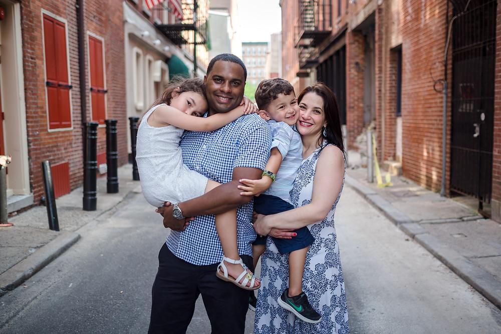Family in old city philadelphia