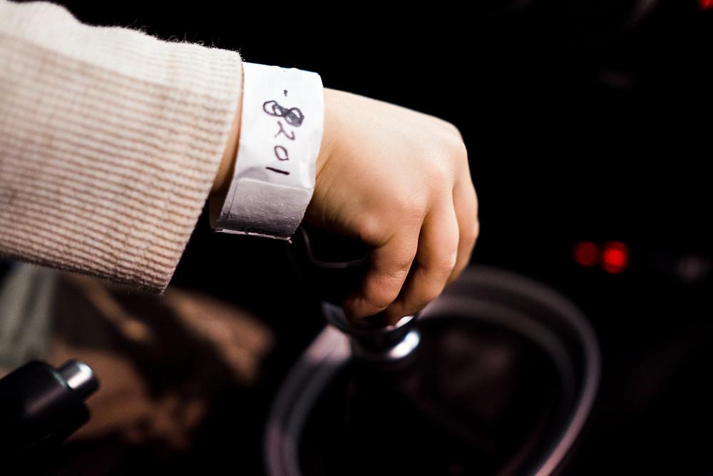 wristband at the Philadelphia Auto Show