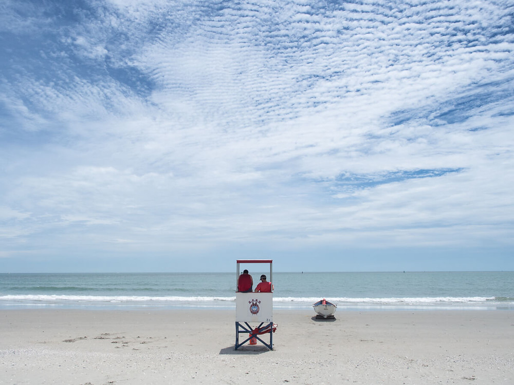 Lifeguards on atlantic city beach