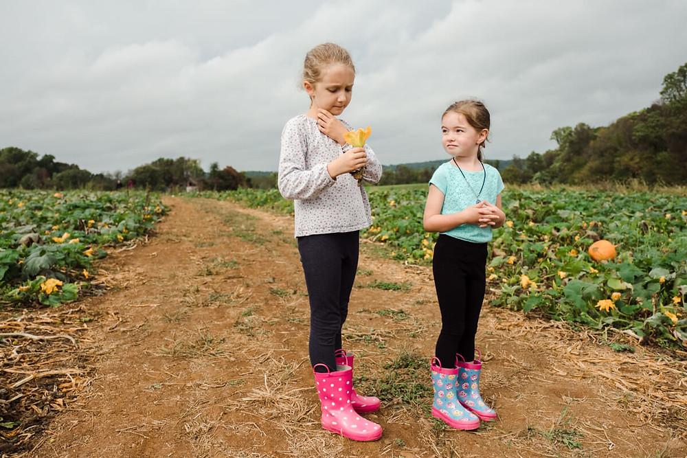 little girls at milky way farm
