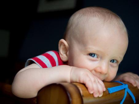 portrait of baby boy