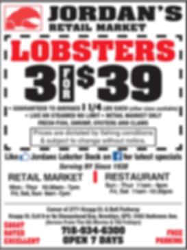 Jordans Ad for 3 for 39 lobsters
