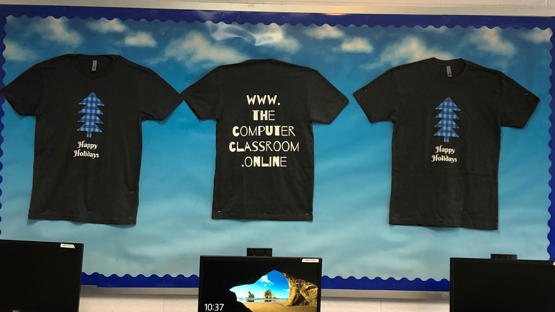 Classroom Custom Designed Holiday T-shirts