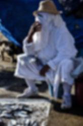 essaouiera maroc marché poisson femme voilé