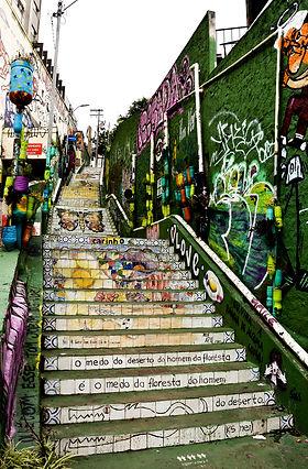 bresil  escalier street art