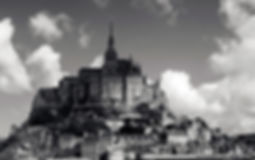 mont saint michel normandie kristelm galeriekm photo noir et blanc