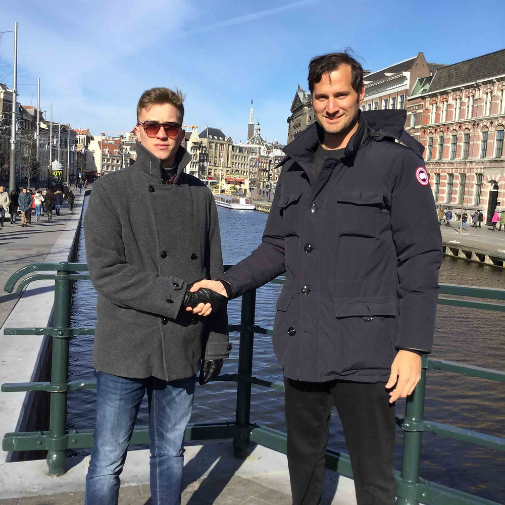 Valentino and Lucas meeting in Amsterdam 2018