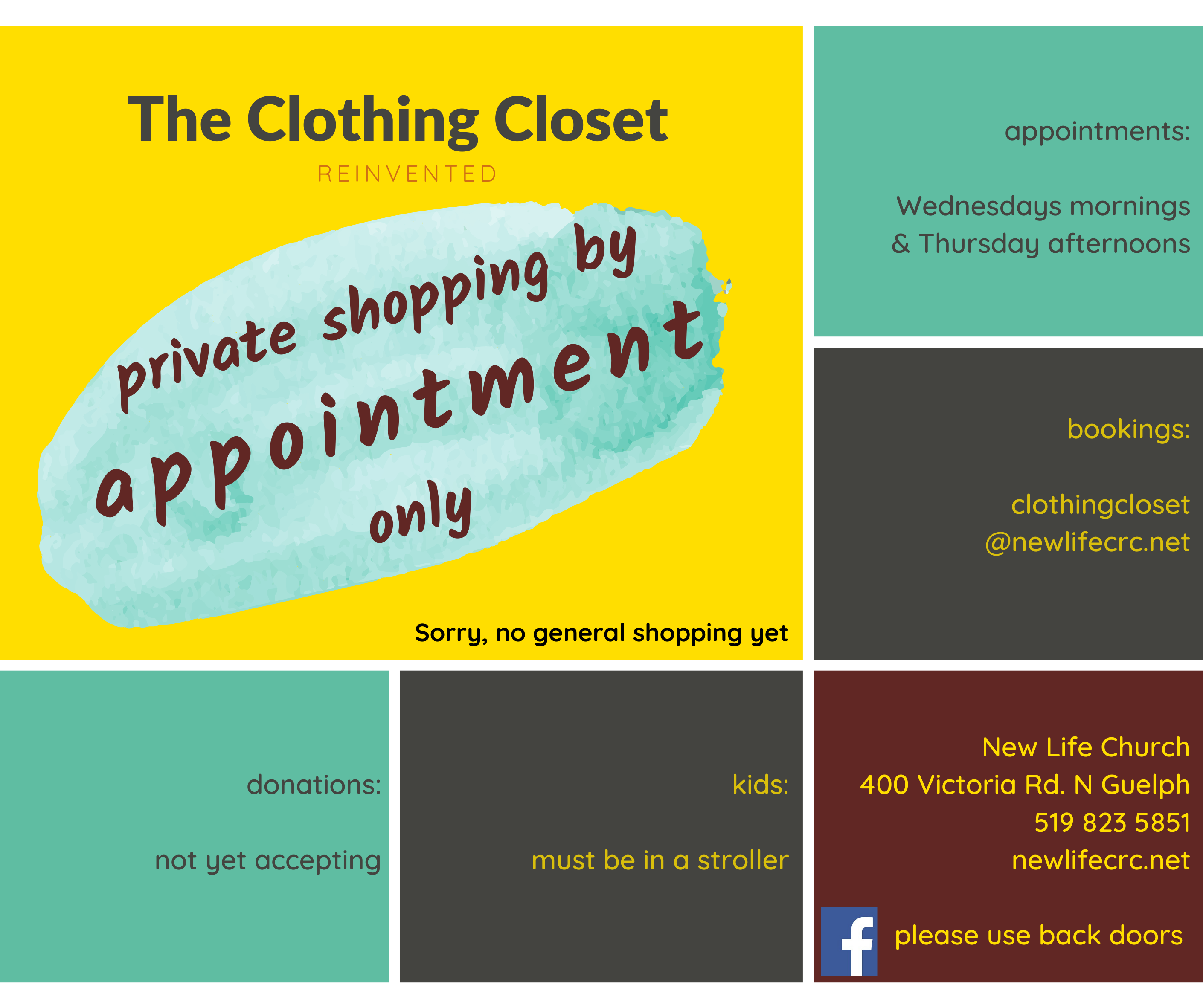 Clothing Closet by appointment fb