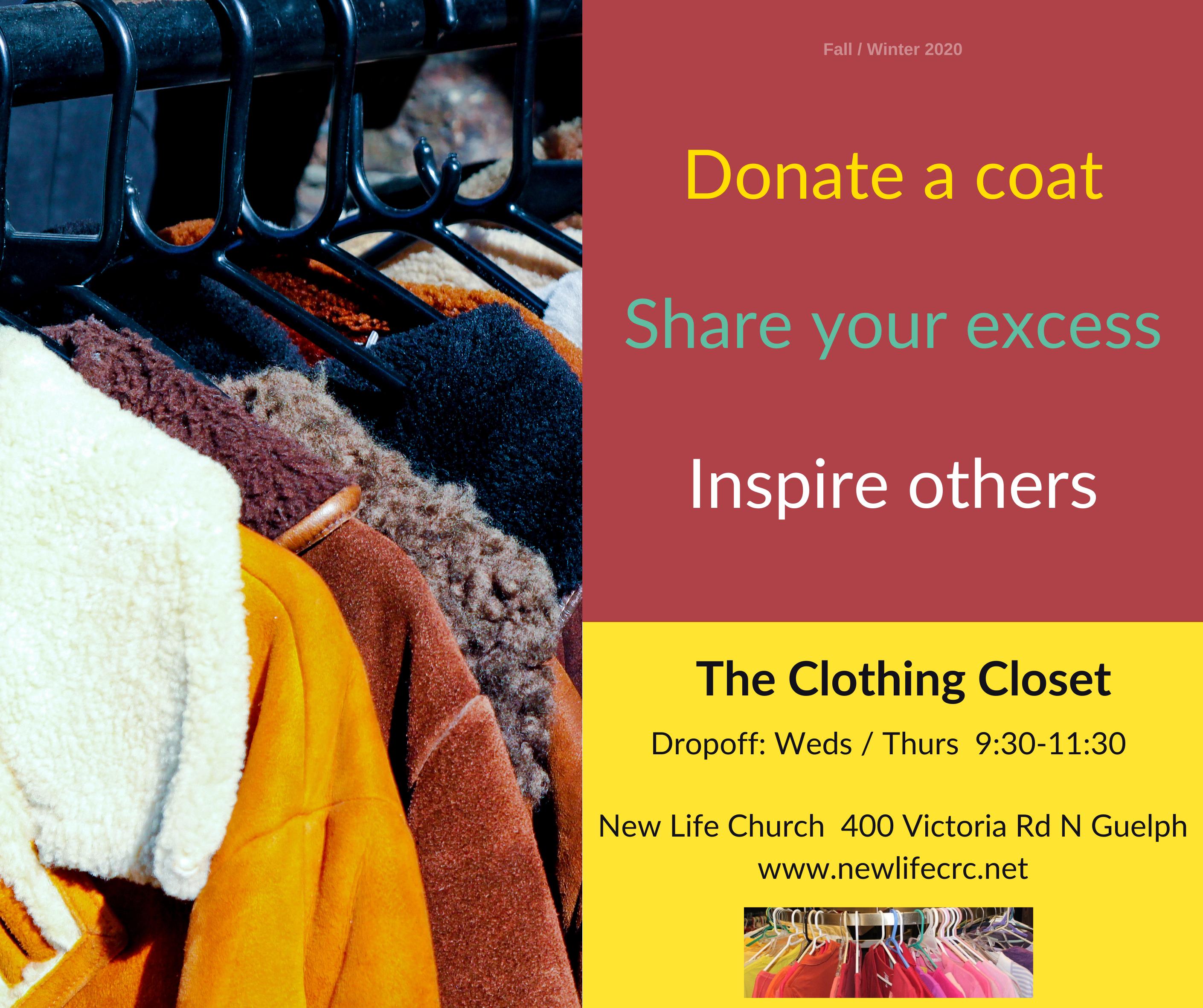 coat drive fall 2020- Clothing Closet (1