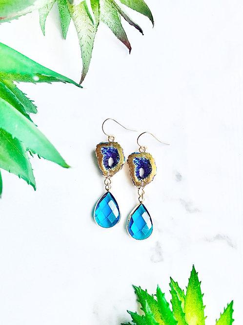 Titanium Geode Earrings