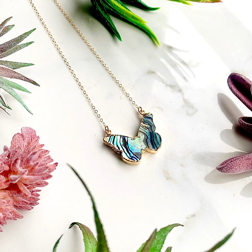 Abalone Butterfly Necklace