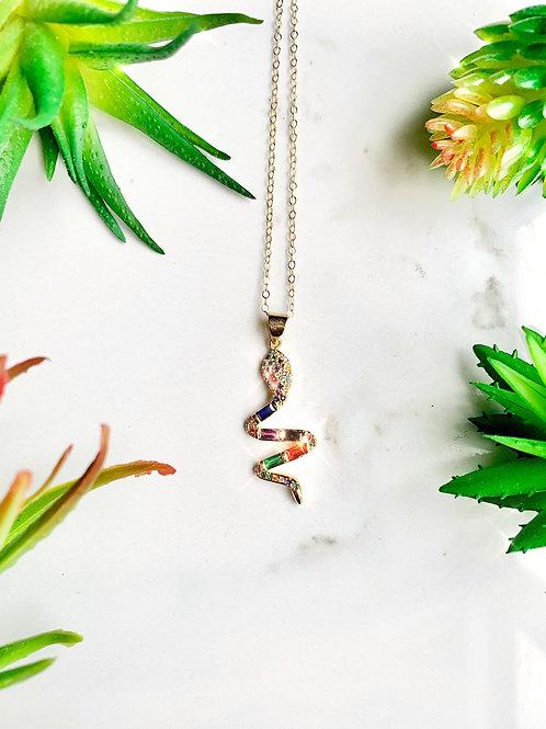 Pave Snake Necklace