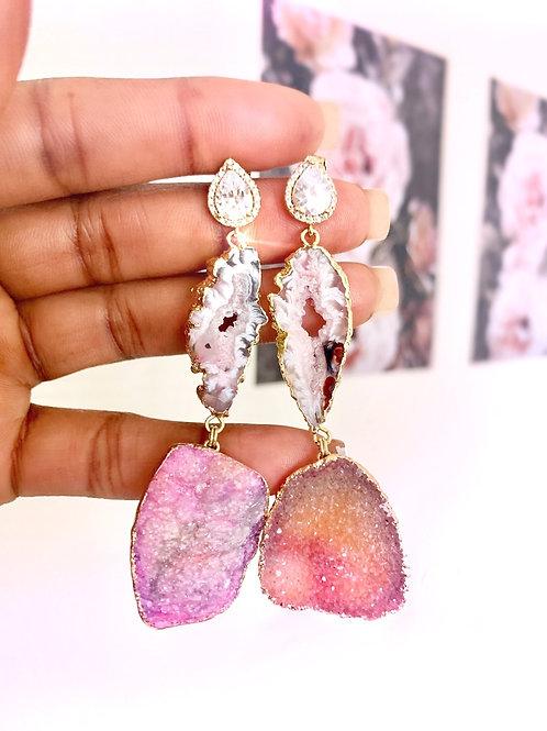 Long Pink Earrings