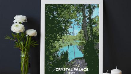 Crystal Palace Park fishing lake, SE19