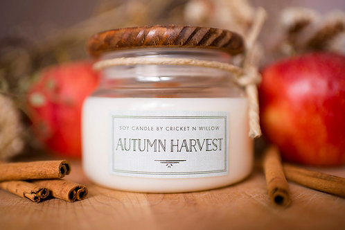 Autumn Harvest Soy Candle with Crackling Wood Wick