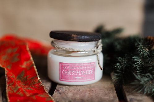 Scented Soy Candle with Wood Wick Christmastide
