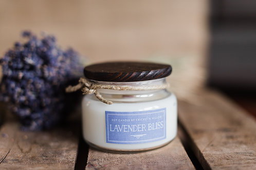 Soy Candle with Crackling Wood Wick Lavender and Apricot Scented Candle