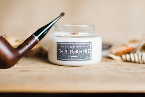 Scented Soy Candle Tobacco Front Porch Pipe