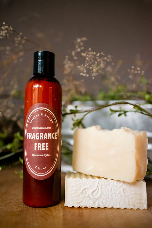 Fragrance Free Unscented Soap and Lotion Gift Set