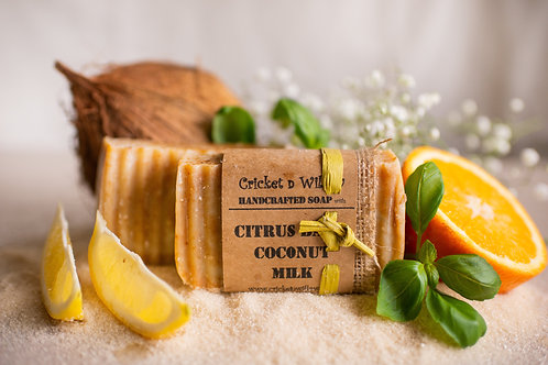 Handcrafted Soap Lime Basil Citrus Soap