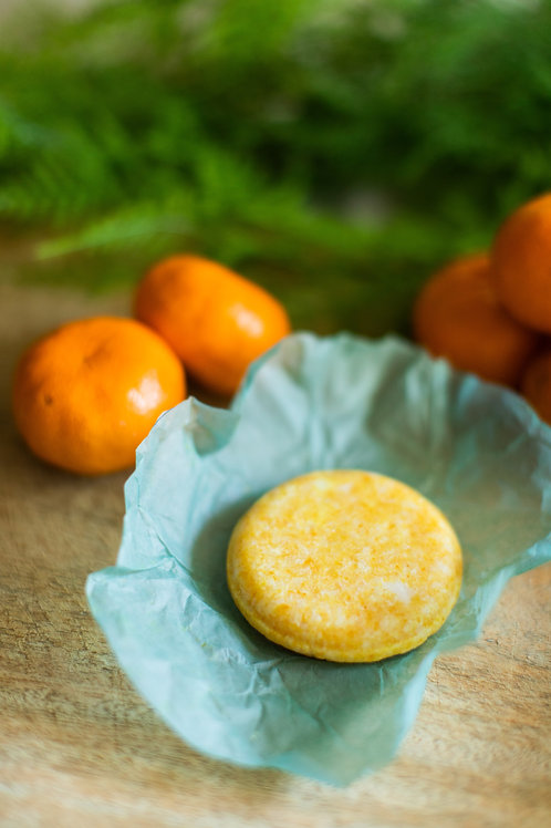 Orange Tangerine Scented Solid Shampoo Bar for Normal to Dry Hair Travel Product