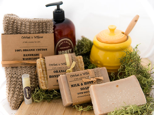 Honey Scented Soaps and Lotion Gift Set Box Pampering Gift Set