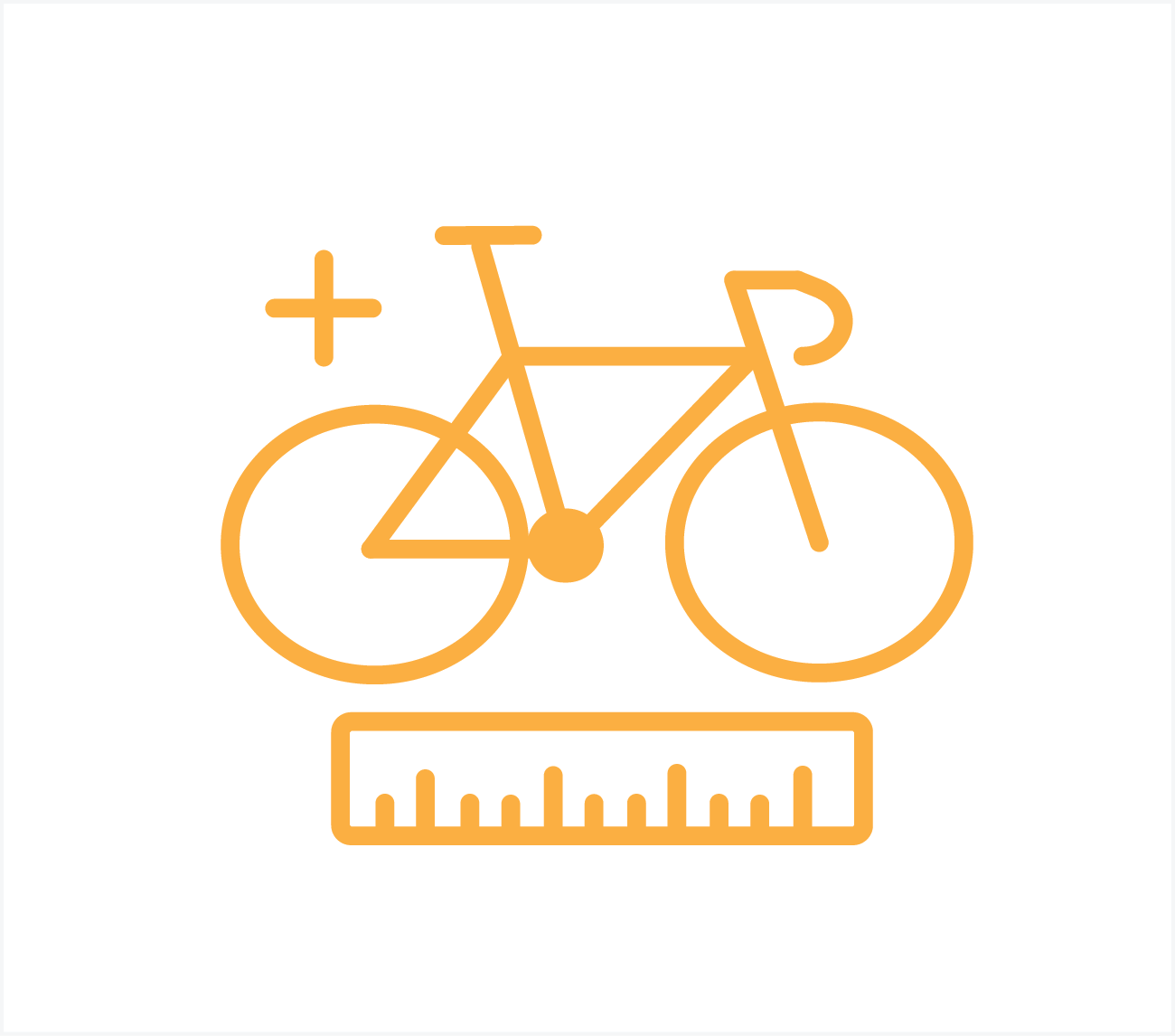 standaard fietspos. 2 fietsen