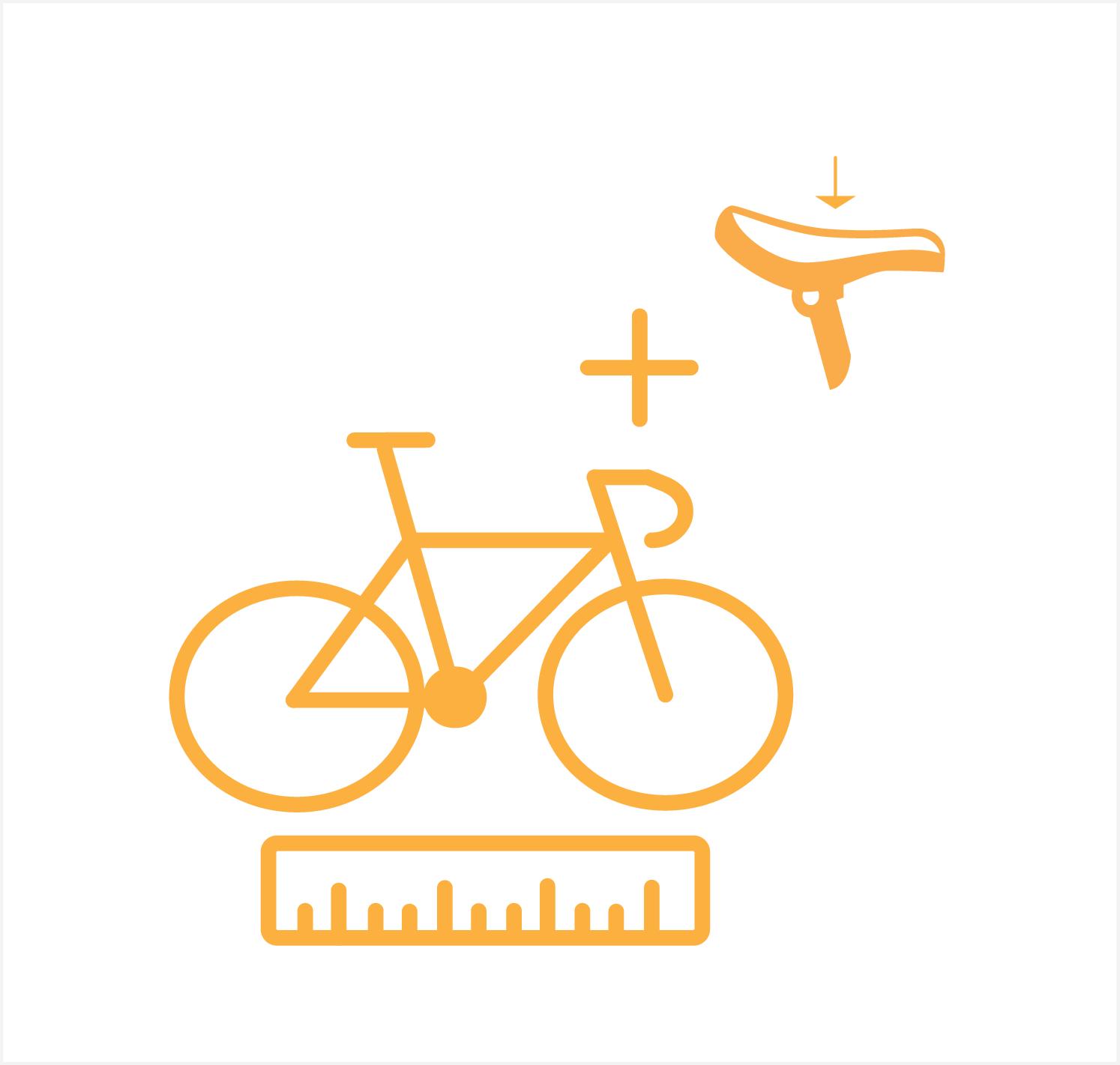 fietspos. met zadeldrukmeting
