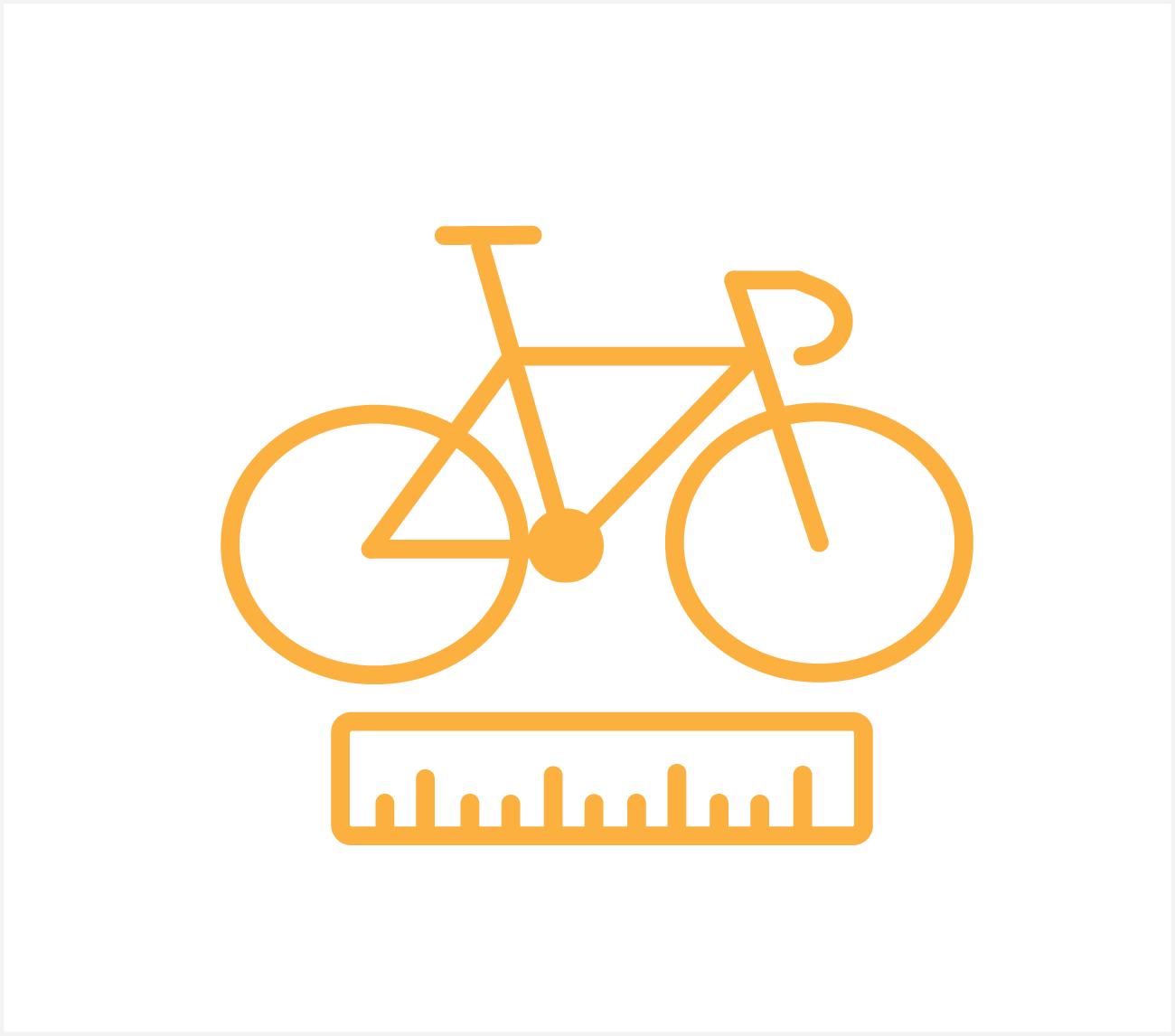standaard fietspos. 1 fiets